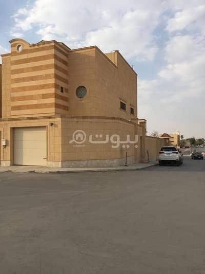فیلا 4 غرف نوم للايجار في الرياض، منطقة الرياض - فيلا شبه جديدة زاوية مع سطح للإيجار في السليمانية، شمال الرياض