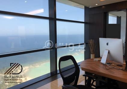 مكتب  للايجار في جدة، المنطقة الغربية - مكتب فاخر بإطلالة بحرية مباشرة للإيجار بحي الشاطئ - جدة