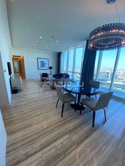 شقة فندقية 1 غرفة نوم للايجار في الرياض، منطقة الرياض - شقة للإيجار فندقية مفروشة في برج داماك، العليا شمال الرياض