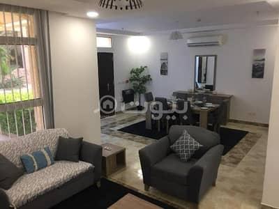 فیلا 2 غرفة نوم للايجار في الرياض، منطقة الرياض - فيلا دوبلكس مودرن مع مسبح مفروشة للإيجار في اشبيلية، شرق الرياض