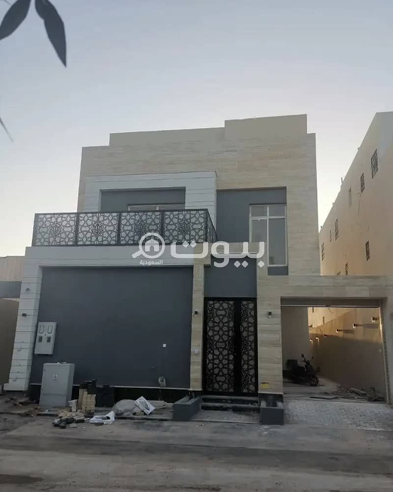 Villa staircase hall and apartment for sale in Al Munsiyah, east of Riyadh