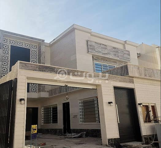 Spacious Villa | Stairs in the hall for sale in Al Munsiyah, East of Riyadh