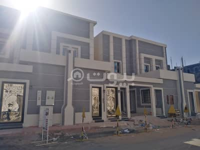 Villa for Sale in Riyadh, Riyadh Region - 2 luxury villas with roof for sale in Al Rimal, east of Riyadh
