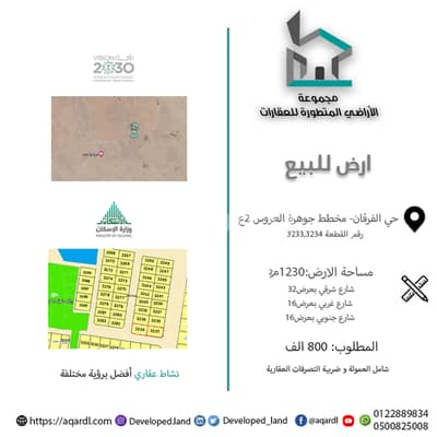 Commercial Land for Sale in Jeddah, Western Region - Commercial block for sale in Dhahban Jawharat Al Arous, north of Jeddah