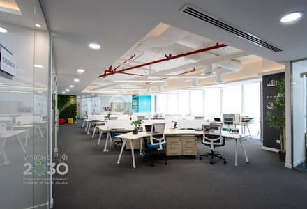 مكتب  للايجار في جدة، المنطقة الغربية - مكتب تجاري مفروش بالكامل للإيجار بالفيحاء، شمال جدة