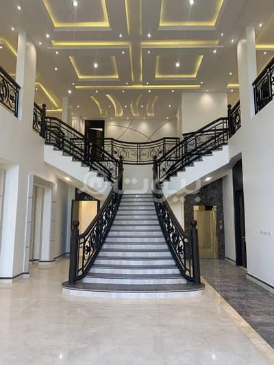 Corner palace for sale in Al-Malqa district, north of Riyadh