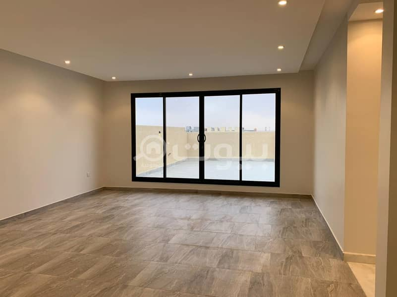 Indoor staircase villa and apartment for sale in Al Narjis district, north of Riyadh