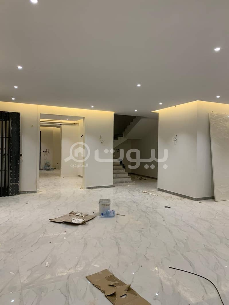 Villa   Indoor staircase and apartment with park for sale in Al Narjis, north of Riyadh