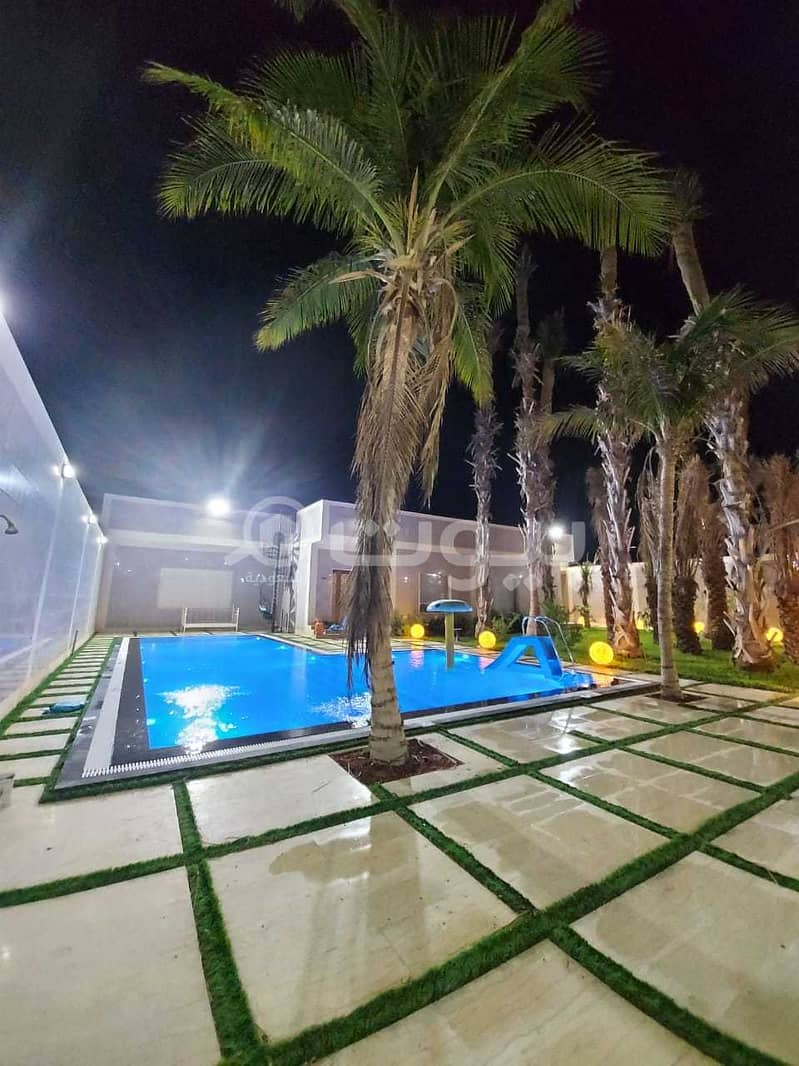 For sale a private istiraha with a park and Pool in Khaleej Salman, north of Jeddah