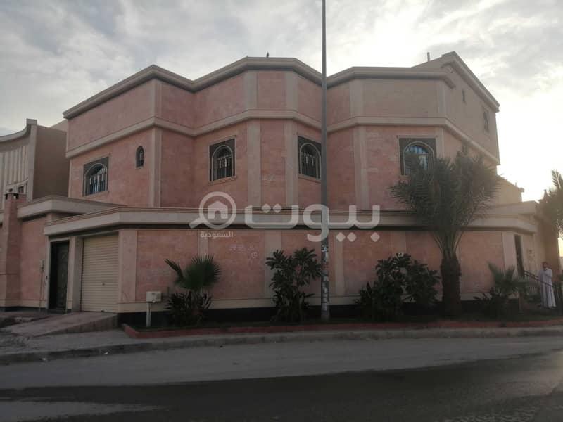 Corner villa   388 sqm for rent in Al Rimal, east Riyadh