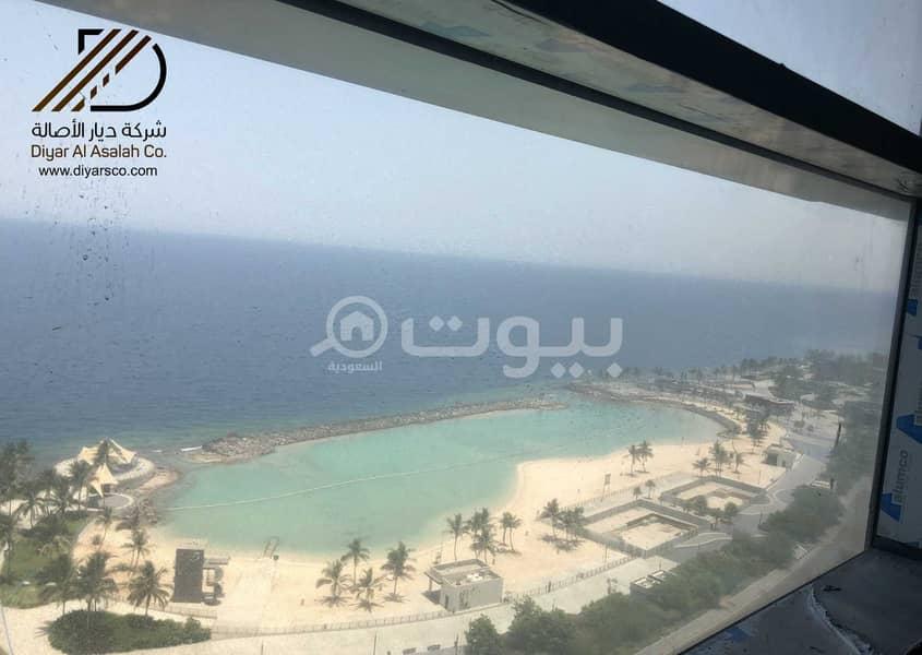 مكتب بإطلالة بحرية للإيجار بحي الشاطئ - شمال جدة