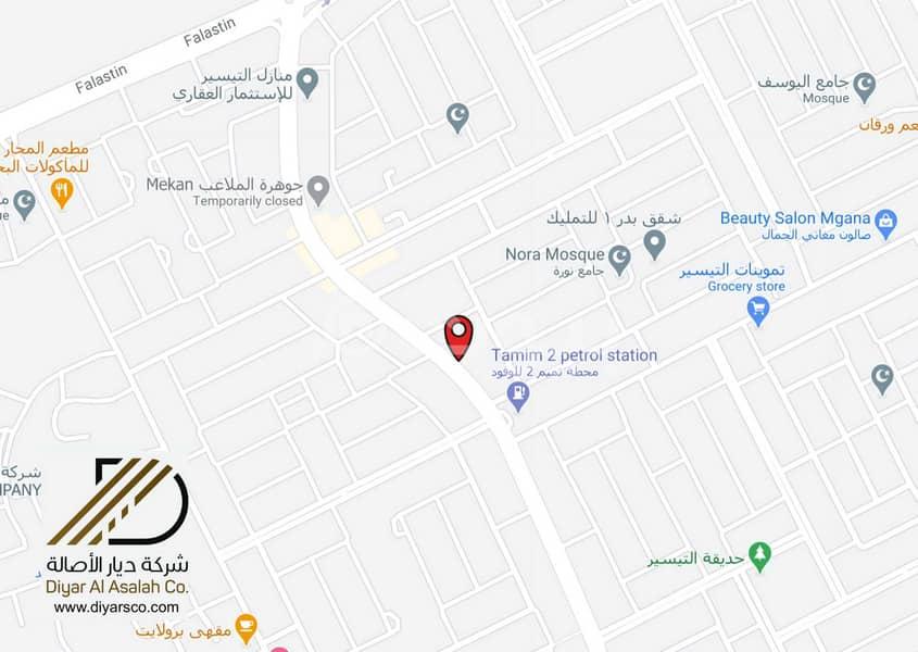 أرض تجارية | تصريح شقق مفروشة في موقع حيوي للايجار في مخطط التيسير، شمال جدة