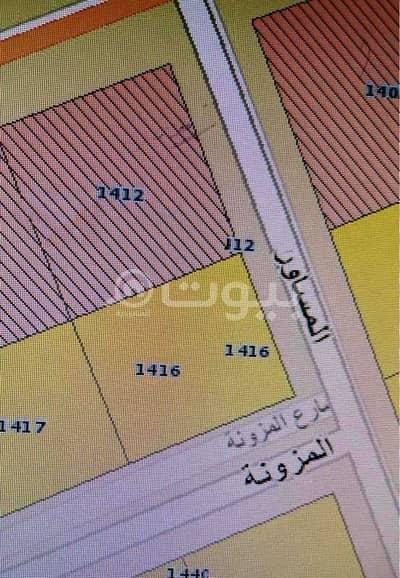 Commercial Land for Sale in Riyadh, Riyadh Region - For Sale Two Commercial Lands In Al Yarmuk Al Gharbi, East Riyadh