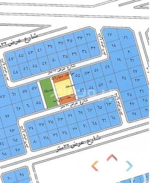 For sale or rent corner commercial land in Obhur Al Shamaliyah on King Saud Rd in Al Zuhoor Scheme, north of Jeddah