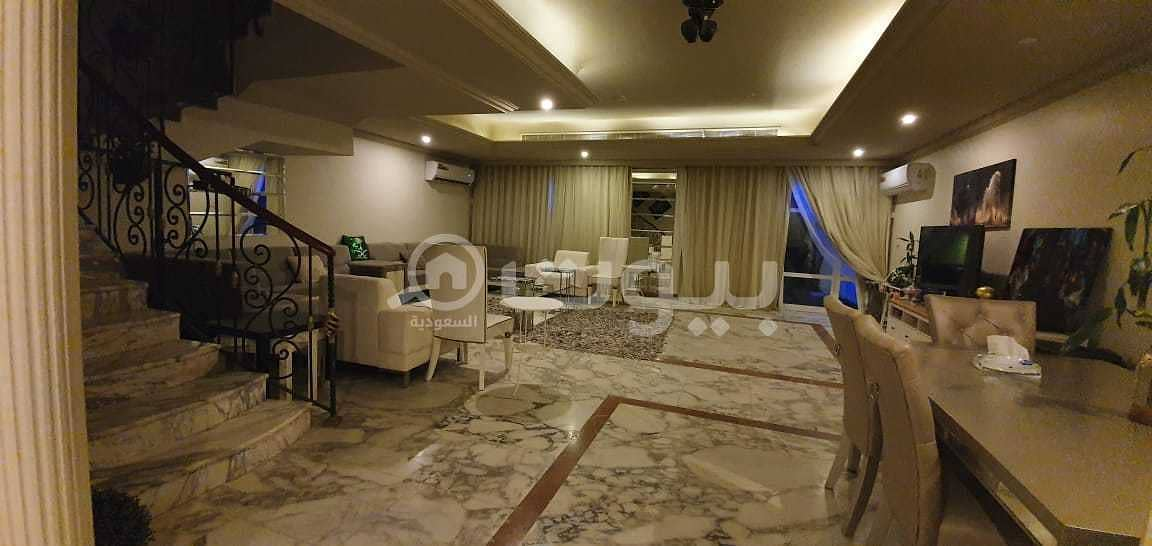 For rent a furnished villa with parking in Al Shati, North Jeddah