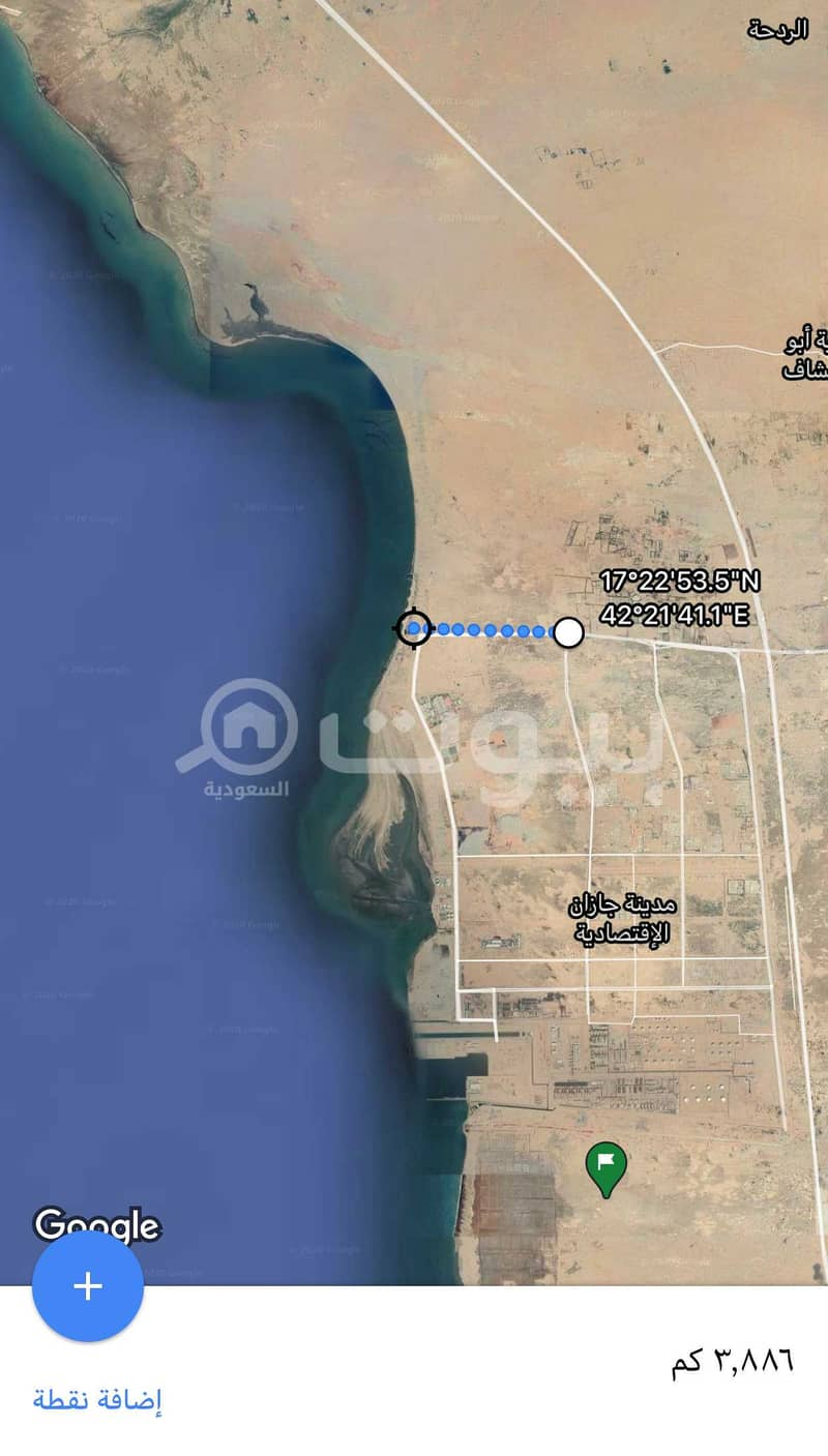 Commercial Land for sale in Jazan Economic City, Baish