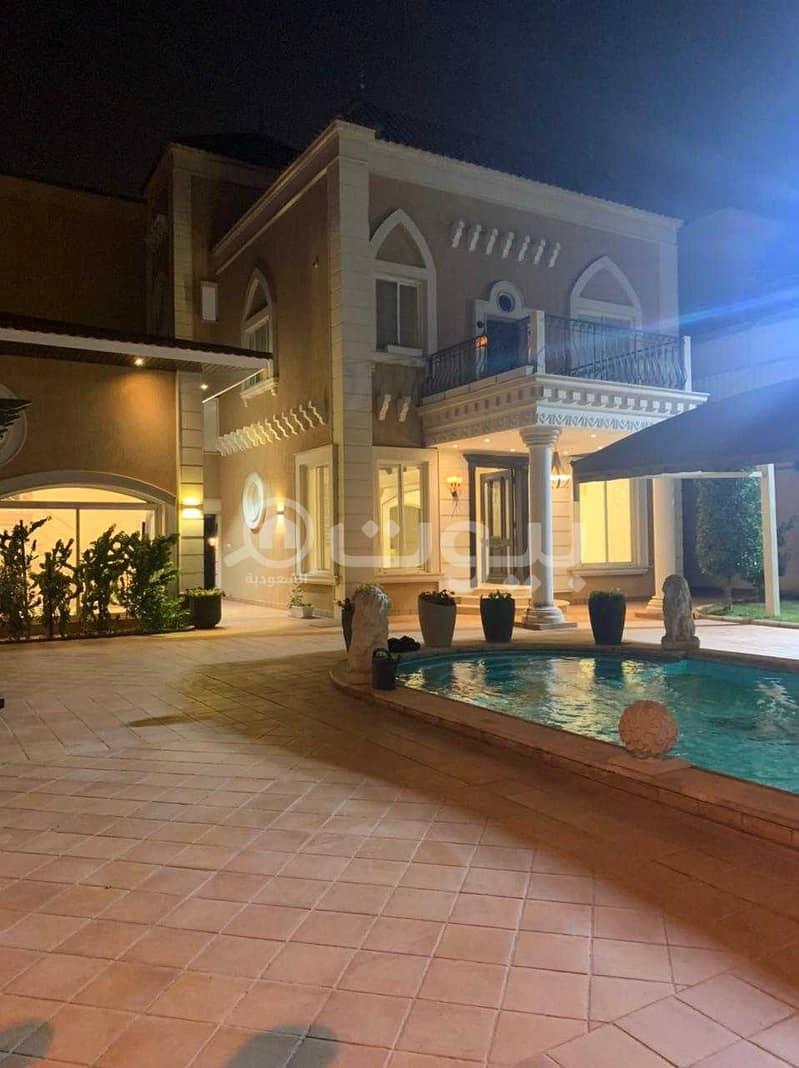 Luxury villa with pool for rent in Al Sulimaniyah district, north of Riyadh