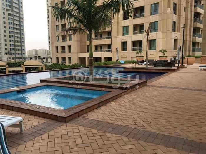 Semi furnished apartment with annex for rent in Al Fayhaa district, north of Jeddah