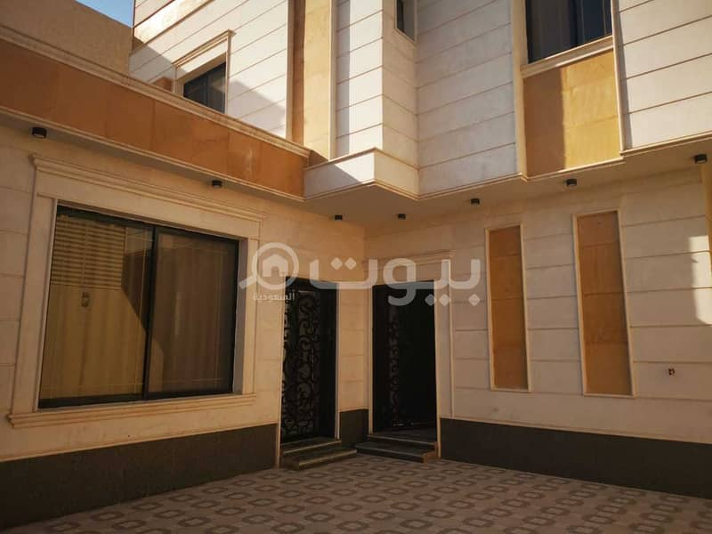 An indoor staircase villa for rent in Al Rimal, east of Riyadh