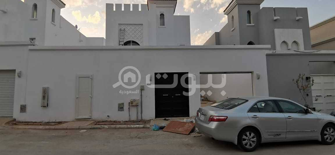 New villa with hall staircase for sale in Al Yasmin, North Riyadh