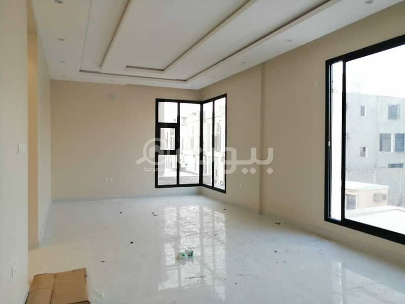 Villa with internal stairs and an apartment for sale in Al Munsiyah district, east of Riyadh | 288 sqm