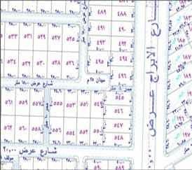 Corner land for sale in Al Waha scheme, Buraydah