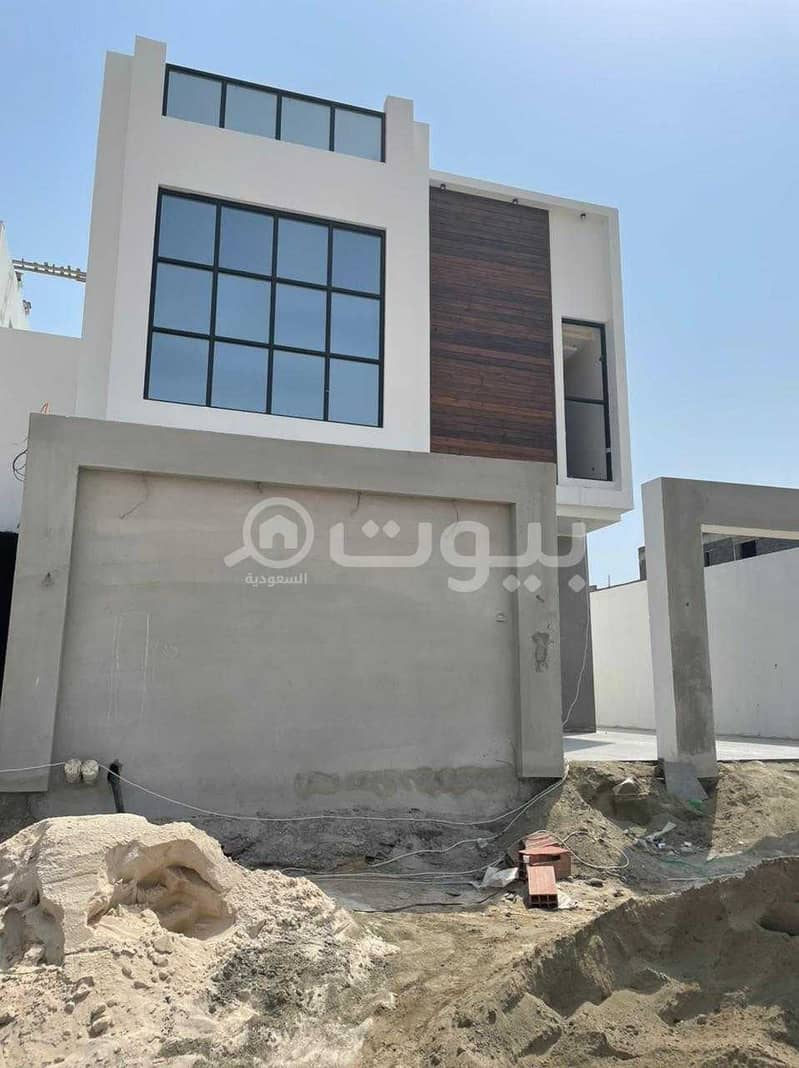 Modern villa with two floors and an annex for sale in Al Zumorrud, North Jeddah