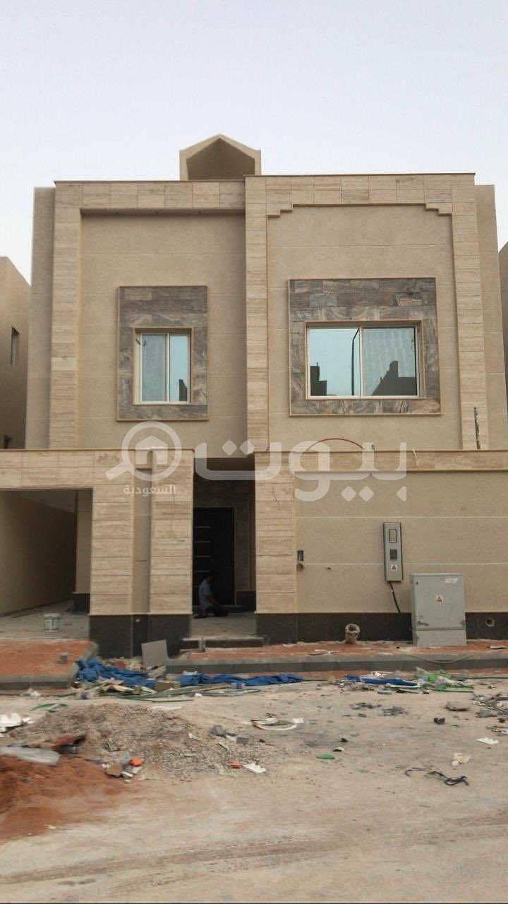 Villa staircase hall for sale in Al Qirawan, North of Riyadh
