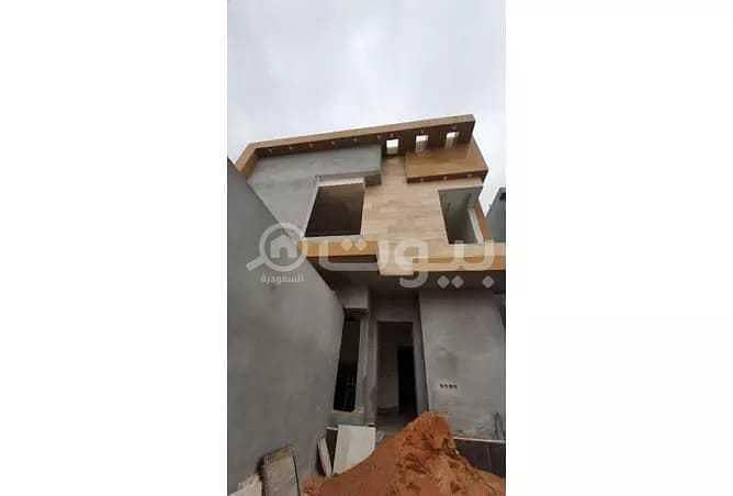 Corner villa for sale in Al-Yasmin district, north of Riyadh
