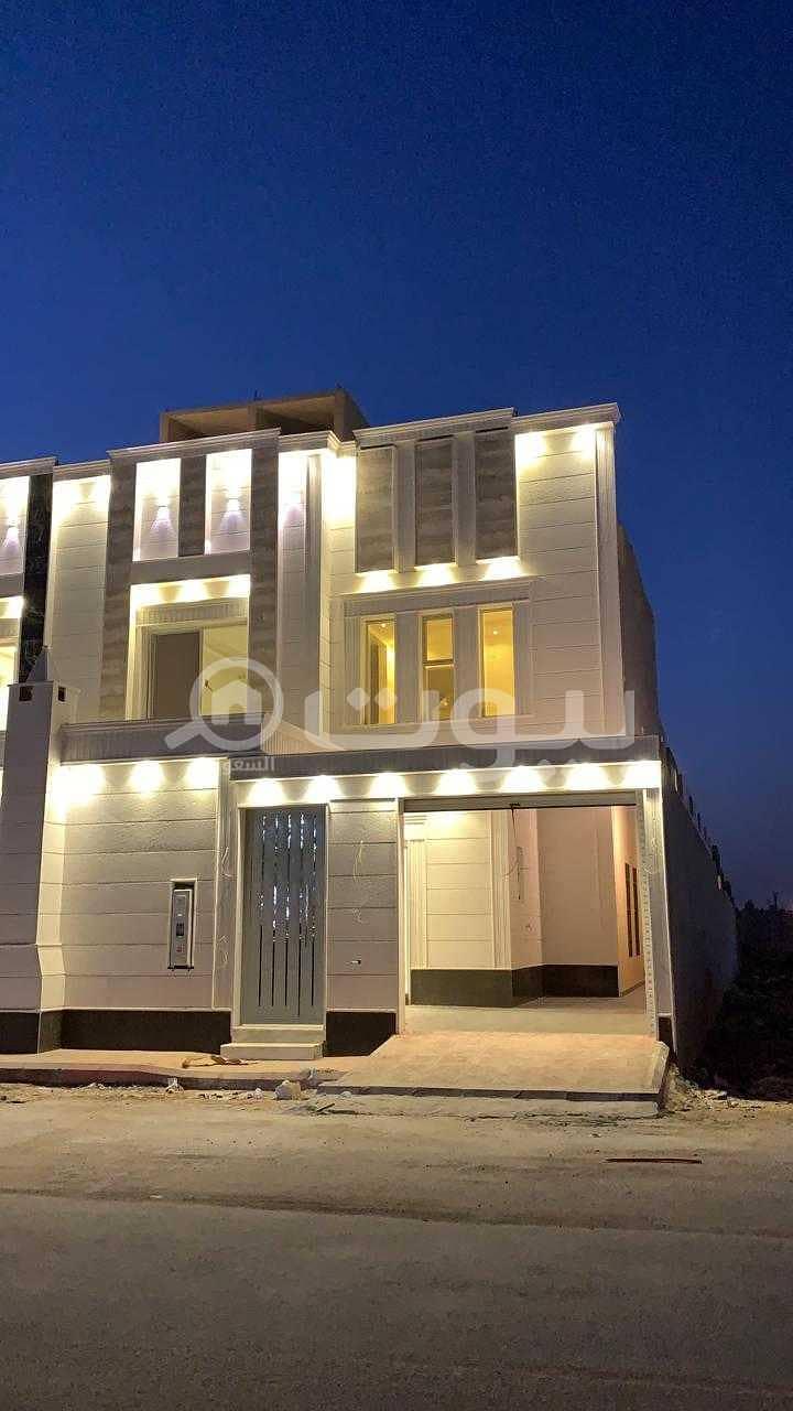 Luxury villa staircase hall for sale in Al Mousa, Tuwaiq, West Riyadh