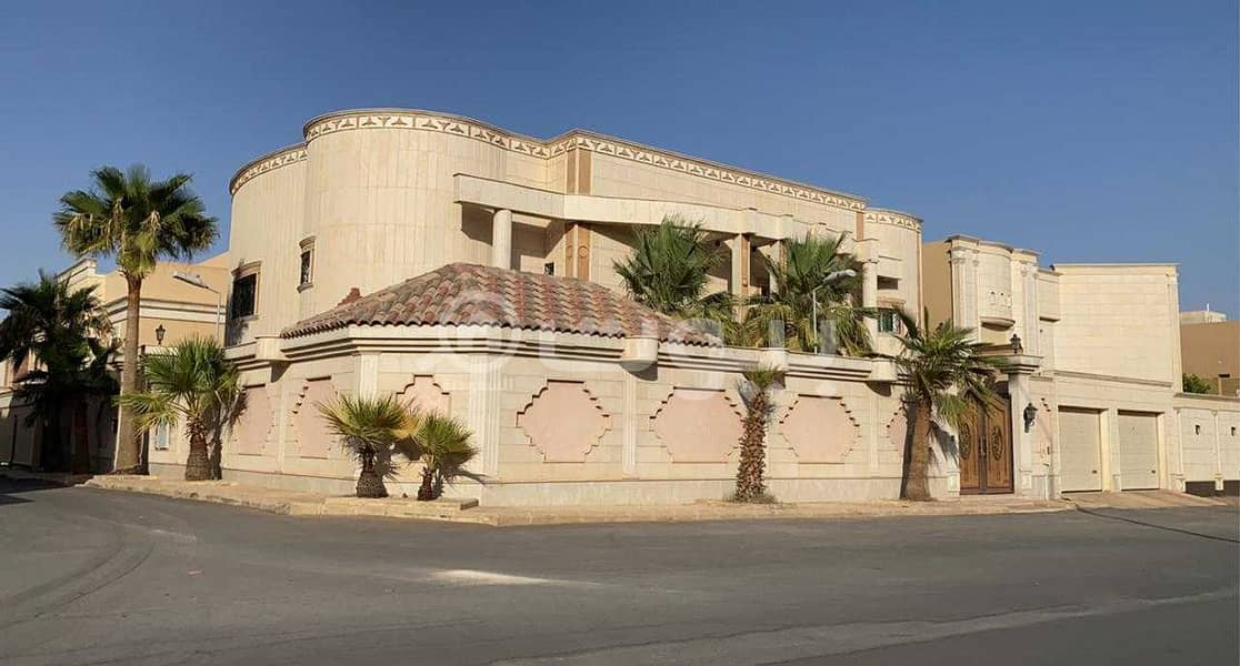 Luxury villa for sale in Al Sahafah, North Riyadh