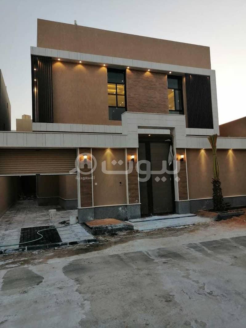 For sale 2 staircase hall villas in Hittin, north of Riyadh
