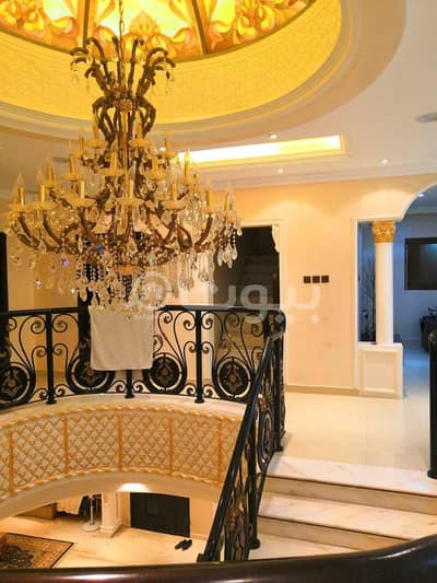 5 Bedroom Villa for Sale in Riyadh, Riyadh Region - For sale villa staircase hall with istiraha in Al Sahafah, North Riyadh
