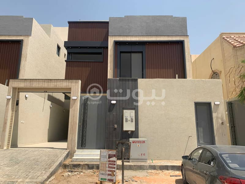 Villa with internal stairs and an apartment for sale in Al Yarmuk, East Riyadh