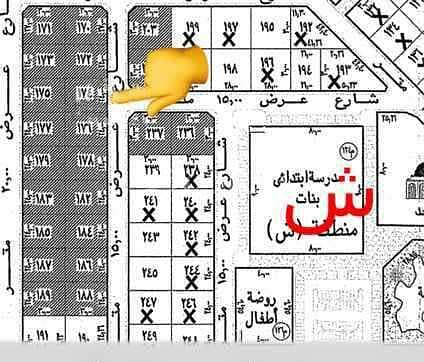 Half of a residential land for sale in Alwurud 2nd, Al Hofuf