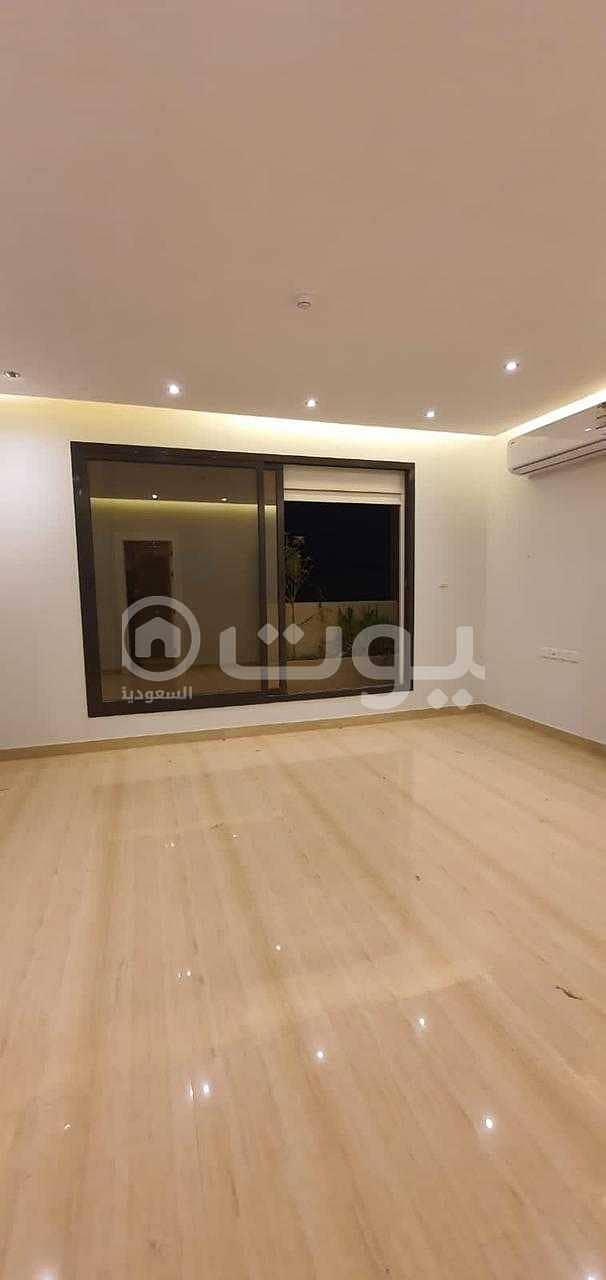 Luxury family apartment for rent in Al-Majidiya project in Al Qirawan, north of Riyadh