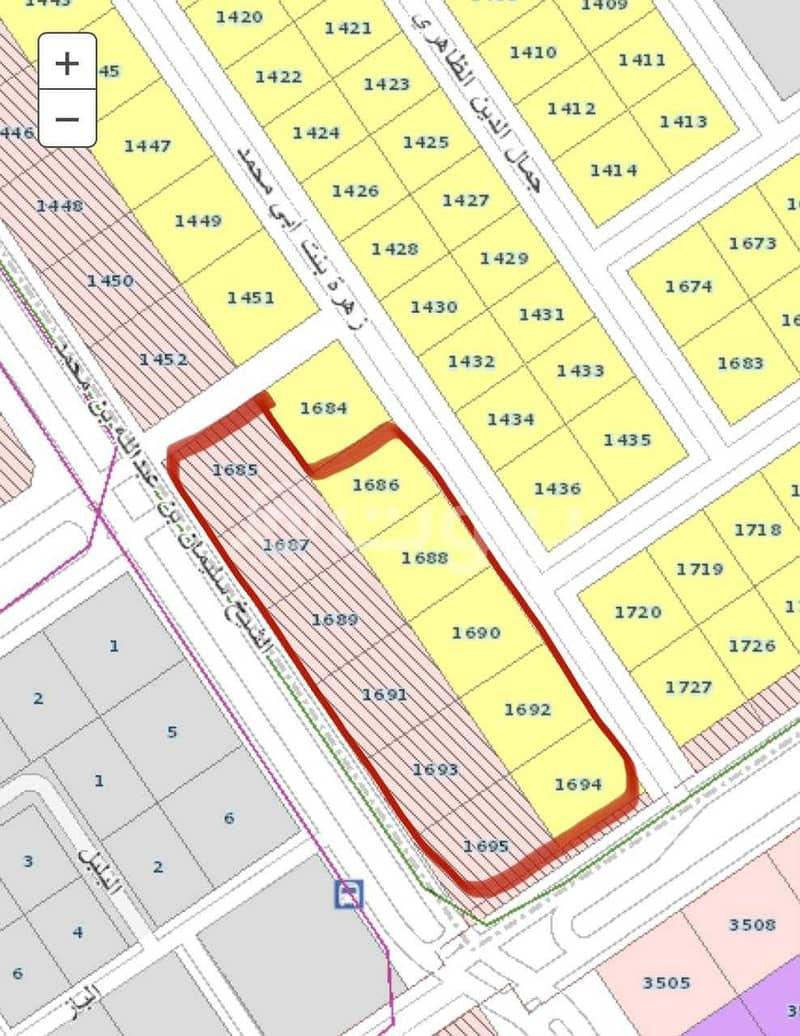 أرض تجارية للبيع بحي الخليج شرق الرياض   رقم 1685