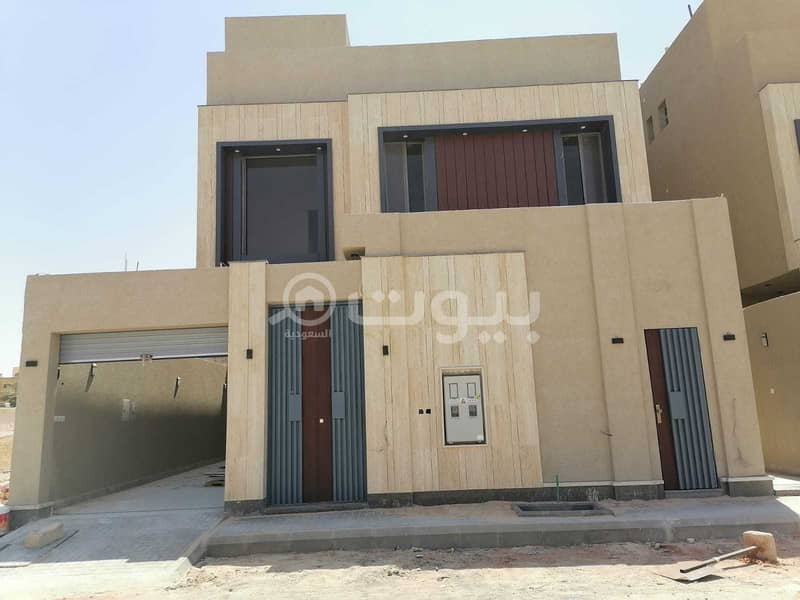 Villa for sale with internal stairs and an apartment in Al-Yarmuk district, east of Riyadh