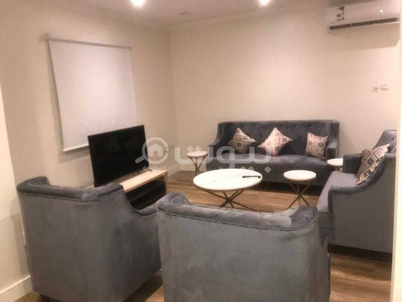 2 BR fully furnished apartment for rent in the center of Al Sulimaniyah, North Riyadh
