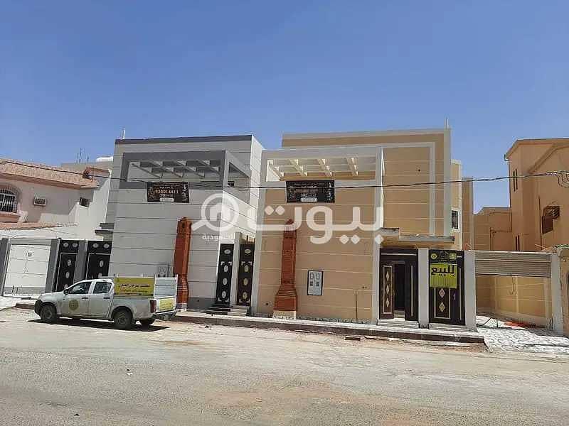 Two duplex villas for sale in Al Zahra District, Hail