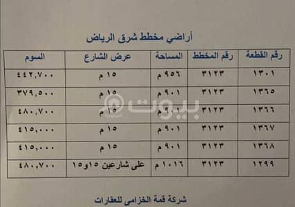 Residential Land for Sale in Riyadh, Riyadh Region - For Sale Residential Lands In Al Sharq, East Riyadh