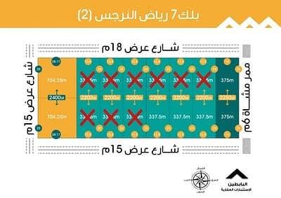 ارض سكنية  للبيع في الرياض، منطقة الرياض - للبيع زاوية بمخطط رياض النرجس 2 مساحة 375م