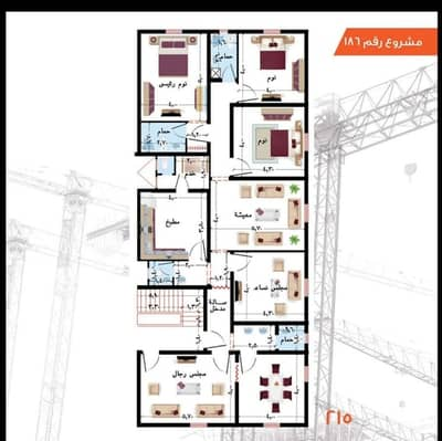 6 Bedroom Apartment for Sale in Jeddah, Western Region - Apartment For Sale In Al Taiaser Scheme, Jeddah
