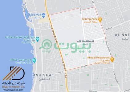 Commercial Land for Sale in Jeddah, Western Region - Commercial Land on 3 streets in a great location in Al Nahdah