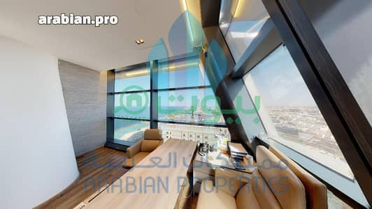 Office for Rent in Jeddah, Western Region - Elegant office for rent in the Headquarter Tower, north Jeddah